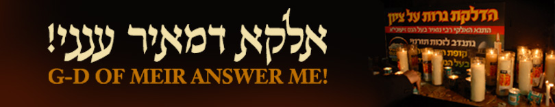G-d of Meir Answer Me!